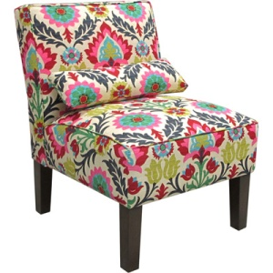 Armless Upholstered Accent Chair - Santa Maria Desert Flower$99.00