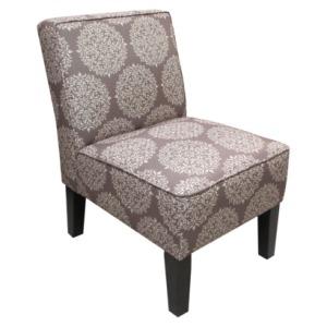 Armless Upholstered Slipper Accent Chair-Grey Medallion$149.99