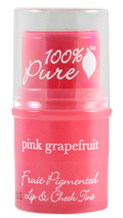 100% Pure Fruit Pigmented Lip and Cheek Tint in Pink Grapefruit